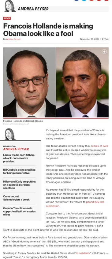 Francois Hollande is making Obama look like a fool