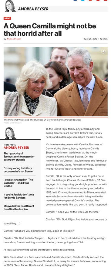 A Queen Camilla might not be that horrid after all