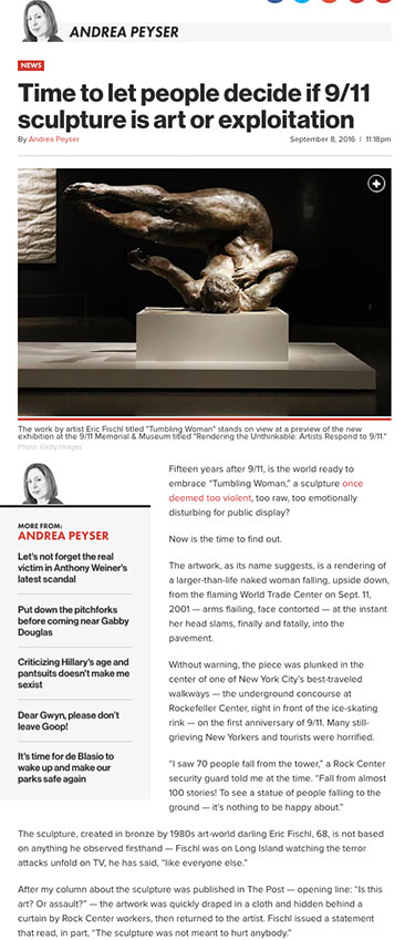 Time to let people decide if 9/11 sculpture is art or exploitation